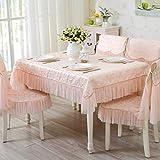fwerq Baumwolle und Leinen Stoff bestickte Tischdecken, Tischdecke TV-schrank Tischdecke, Decken Bettwäsche - 130 x 130 cm (51 x 51 Zoll)