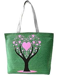 Hrph Árbol de amor de la lona del bolso de muy buen gusto del bolso de escuela de los bolsos bolsos de las muchachas lindas de la Mujer