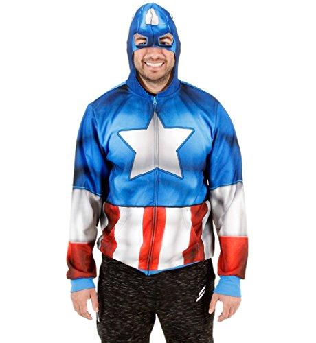 Captain America Fleece Zip Hoodie and Backpack (Small)