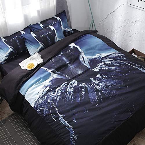 Floral Bettdecke In Voller Größe (XYEQZ Bettwäsche Dreiteiliger, Pflegeleichter Leichter Polyester In 3D-Farbdesign Mit Quiltüberzug,C,260X220)