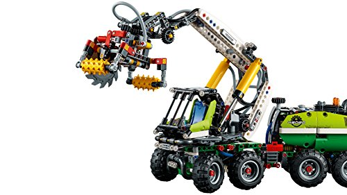 LEGO 42080 Technic Forest Machine Forklift Toy Truck, 2 in 1 Model, Power Functions Construction Set for Kids