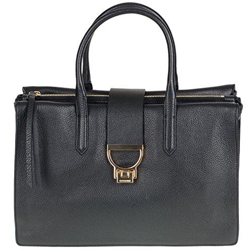 Coccinelle Arlettis Borsa Pelle Vitello 18-02 Damentasche aus Leder nero (Tote-tasche Vitello-leder)