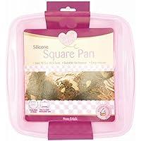 Stampo quadrato per torte in silicone antiaderente vassoio teglia (2 Torta Way)