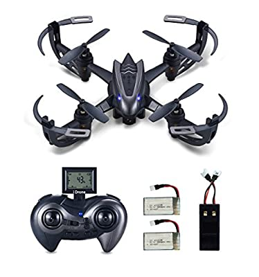 Hasakee Mini RC Helicopter Drone 2.4Ghz 6-Axis Gyro 4 Channels Quadcopter With 720P HD Camera,Headless Mode,2 in 1 Battery Charger and Bonus Battery