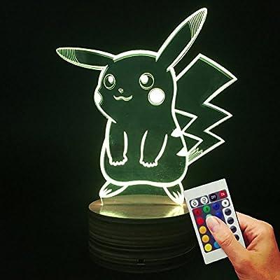 Pokémon Deko lámpara Pikachu (3d de discapacitados Illusion) por Stuff4Players