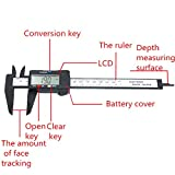 WeterCos (TM) 150 mm 6-Zoll-LCD-Digital-elektronische Carbon-Faser-Messschieber Mikrometer Lineal Pr?zisions-Messwerkzeug