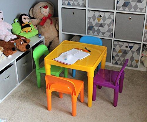 HOME HUT® Juego de Mesa y sillas Grandes de plástico para Niños – Regalo para Niños y Niñas