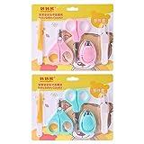 Yunso 1 Babypflege Set Nagelknipser Baby Pflege Schere Sicherheitspflege für Baby Neugeborene Kleinkinder Säuglinge Pflege,Farbe zufällig