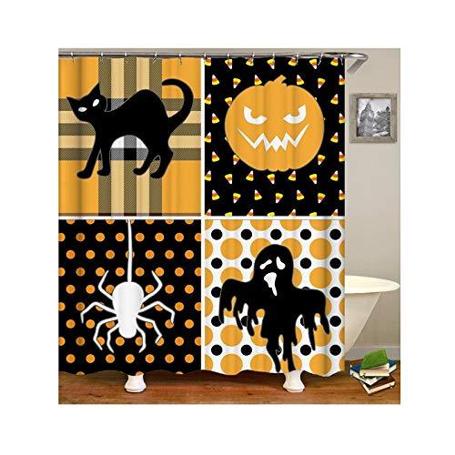toff Badvorhang Vintage Halloween Thema Duschvorhang Anti-Schimmel 165x200 ()