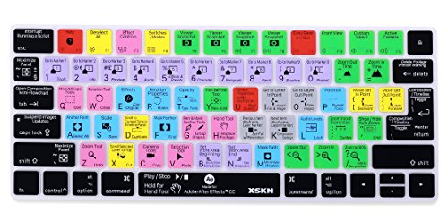 After Effects Shortcut Keyboard Cover, strapazierfähiger AE Hotkeys Silikon Tastatur Haut für Apple Magic Tastatur mla22ll/A ()