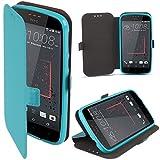 HTC Desire 825 Hülle Flip Case Blau - Moozy® Dünne