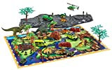 Toys Bhoomi Prehistoric Dinosaur Playset with Play Mat (Multicolour)