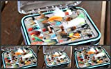 Flextec 100pcs or 50 pcs x Fly Fishing Selection complete with Fly Box, Wets, Lures, Nymphs dry flies etc