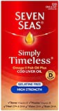 Seven Seas Simply Timeless Omega-3 Fish Oil Plus Cod Liver Oil High Strength 120 Capsules