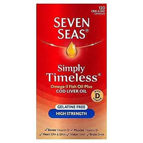 Seven Seas Pure Cod Liver Oil High Strength Capsules x120