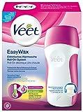 Veet EasyWax, elektrisches Warmwachs Roll-On-System für sensible Haut, 1 Stück, inkl. 1 Nachfüll-Patrone