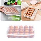 Clode® Eierbox Eieraufbewahrung Kühlschrank Transportbox für 20 Eier, Transparent, Maße 29.5 x 22.5 x 6cm (A)