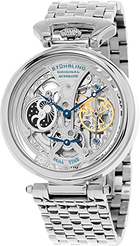 stuhrling-original-special-reserve-mens-automatic-watch-with-silver-dial-analogue-display-and-silver