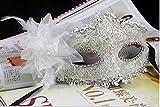 EQLEF® Spitze Kristall Cosplay Roman griechischen venezianischen Halloween Costume Party Maskerade Maske (weiß-1)