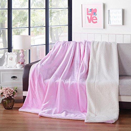 ysayc Bett Decke Blatt Mikrofaser Flanell Snuggle Couch Cozy Warm Glatte Hochzeit Geburtstag Geschenk Klimaanlage Decke, e, 150*200cm