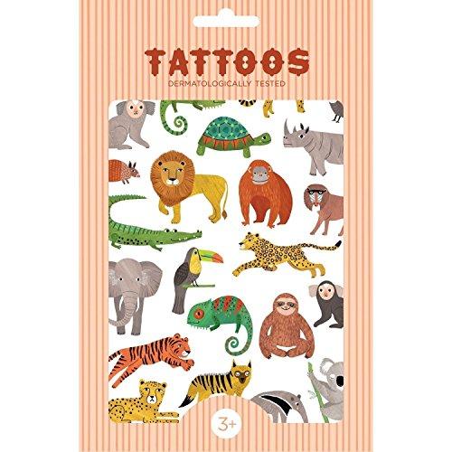 Jellycat Tätowier-Tattoos Selva, Mehrfarbig (Petit Monkey TT04)