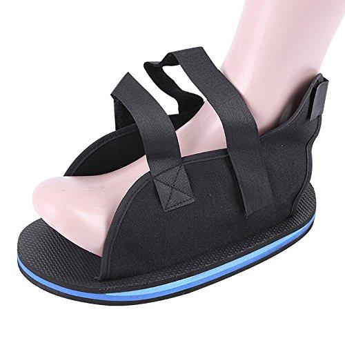 HFOUR Gipsschuhe - Open Toe Plaster Cast Schuh - Maximale Stoßdämpfung - Für Den Fuß Zerbrochene Fraktur Oder Toe Operationen Etc,XL