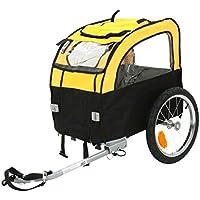 Luz y aireado perro–remolque de bicicleta para perros pequeños de hasta 25kg–plegable–disfrutar de viajes con su mascota