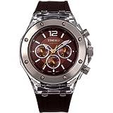Time100 W70034L.01AN - Reloj Suiza de pulsera para hombre, la correa de silicona color negro de nultifunciones
