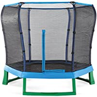Plum® Junior Jumper 7ft Trampoline and Enclosure Kids Trampoline Blue/Green Pink/Purple