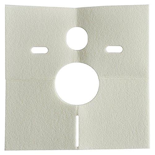 Sanit Schallschutzset für Wand-WC und Bidet, 1 Stück, weiß, 16.002.00..0000