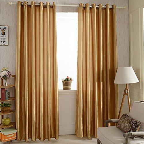 Brightup Satin Fenster Schirm Vorhang Tür Raum Futter Vorhang drapiert Hauptdekor (Gold Stoff-futter)