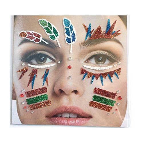 Gesichts Tattoo Face Art Halloween Karneval Indianer