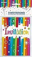 8rubans arc-en-ciel anniversaire invitations (49574)