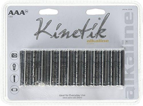 Kinetik 53338Alkaline Batterien AAA, 36Stück (Batterie Kinetik)