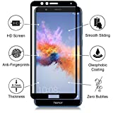 #4: Blaspheme™ Premium Quality 5D Screen Protector, [Full Coverage][2.5D Round Edge][9 Hardness][Anti-Scratch][HD Clear] Tempered Glass for Huawei Honor 7X (Black)