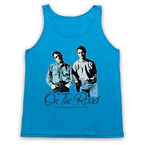 Jack Kerouac On The Road 4 Tank-Top Weste Neon Blau