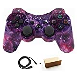 Bowink Wireless Bluetooth Controller For PS3 Double Shock - Bundled with USB charge cord (Starry Sky)