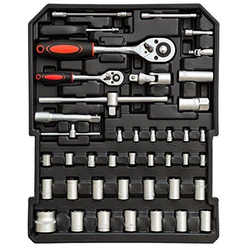 TecTake® 251 teiliger Werkzeugkoffer mit Werkzeug bestückt - 3