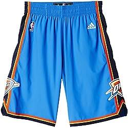 adidas Oklahoma City Thunder Pantalón Corto, Hombre, Azul / Rojo / Amarillo / Blanco, L