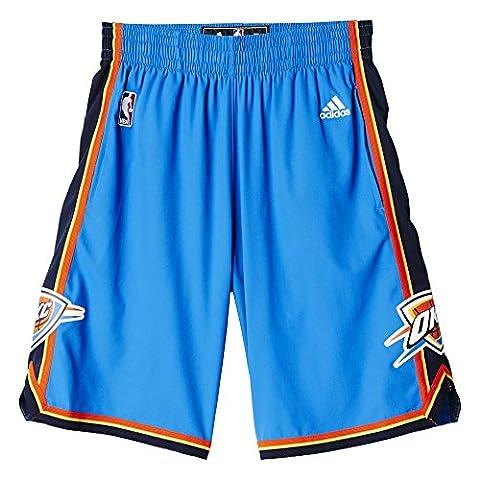 Adidas NBA Team Woven Short pour Homme, Homme Pour homme, Woven Nba Team, Blu/Nero/Arancione (Nba Oklahoma City Thunder 1 3Cb)