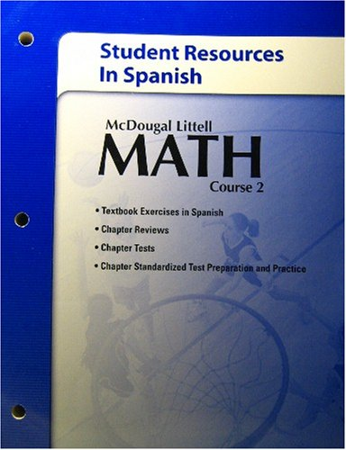 McDougal Littell Math Course 2: Student Resources in Spanish Course 2 par McDougal Littel