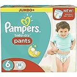 Taille 6 Boîte De Jumbo De Baby-Secs Pantalons De Pampers 58 Couches -
