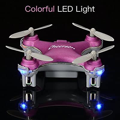 Lanlan Cheerson CX-10SE Mini Drone CX-10 Upgrade Quadcopter 2.4G 4CH 6 Axis LED RC Helicopter with Switchable Controller for Children & Beginners Copter Toy