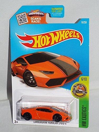 2016 Hot Wheels Hw Exotics 6/10 - Lamborghini Huracan LP 610-4 (Orange) by Hot Wheels