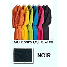 Home Basic - Albornoz con cuello tipo smoking, talla XXL, color negro