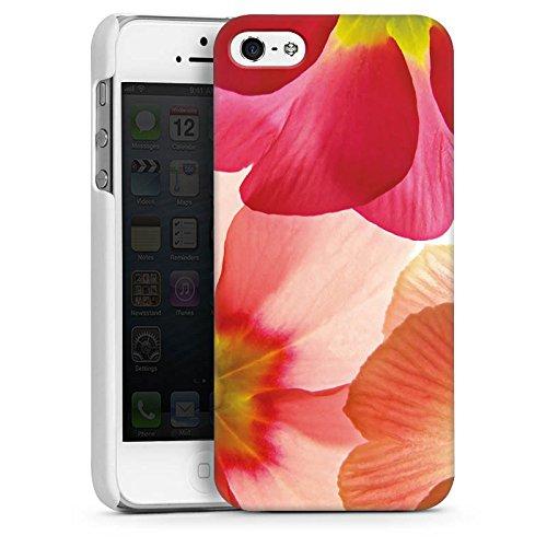 Apple iPhone 4 Housse Étui Silicone Coque Protection Fleur Fleur Pétales CasDur blanc