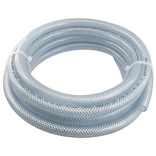 """PVC-Schlauch mit Gewebeeinlage Transparent, Lebensmittelqualität, 10, 25 und 50 Meter Rolle, verschiedene Größen (Innen Ø: 13,2 mm (1/2""""), Länge: 10 Meter)"""