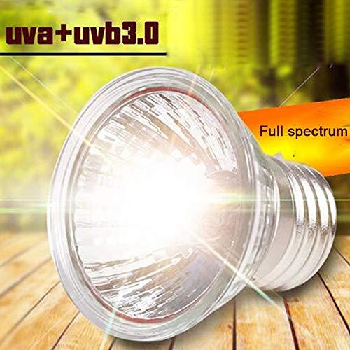 Steve_Eden_TM Habitat-Beleuchtung - UVA+UVB 3.0 Reptilienlampe Schildkröte Basking UV-Leuchtmittel Heizlampe Amphibien Eidechsen Temperaturregler -