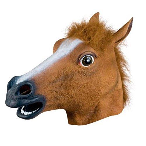 Weltzukaufen Pferdemaske Maske für Halloween Karneval Fasching aus Latex in Braun - Lustigen Halloween-kostüm Meisten Die Ideen