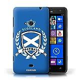 Stuff4 Hülle / Hülle für Nokia Lumia 625 / Schottland/Scottish Muster / Fußball-Emblem Kollektion
